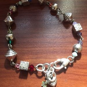 Brighton silver and multicolored beads bracelet